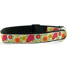 Spring Multi Flowers matching collars/leashes ! $32