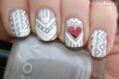 Fishing4Beauty: Valentine's Manicure--Take 5 featuring @Zoya Nail Polish #tribal