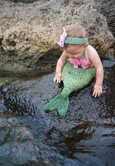 Mermaid baby costume