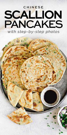 Chinese Scallion Pancakes with step-by-step photos | Eat, Little Bird #scallionpancakes