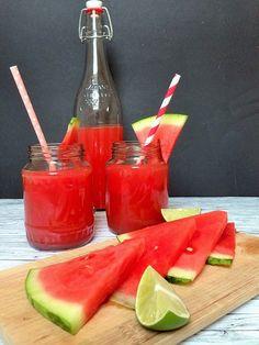 thé glacé au melon d'eau maison, sans sucre raffiné
