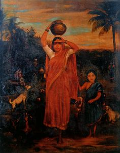 Reprints of Raja Ravi Varma Paintings: Village Damsel