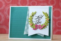 Just For You Card by Laura Bassen for Papertrey Ink (February 2015)