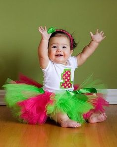 "1st Birthday Photo Ideas. Claire needs a tutu and a ""one"" onesie!"