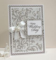Wedding Card  Handmade Card  SilverGrey and by CardsbyGayelynn, | http://weddingcardtemplates.13faqs.com