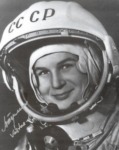 Valentina Tereshkova, the first woman in space (June 16, 1963)