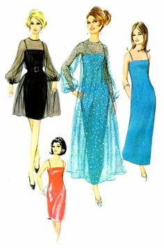 1960s McCall's 8998 Misses Dress Slip Sheer by patternshop on Etsy, $21.99