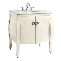 Home Decorators Collection Savoy 31 in. W x 22 in. D Vanity with Vanity Top in White-0322610270 at The Home Depot