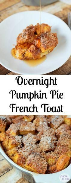 This overnight pumpkin pie french toast is the perfect fall breakfast! Do a little prep the night before and then wake up to a breakfast that is amazingly delicious and filled with pumpkin flavor.