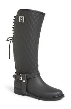 däv 'Galway' Waterproof Quilted Tall Rain Boot (Women) available at #Nordstrom