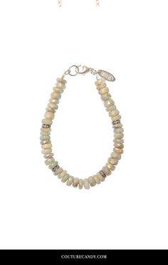 Heather Gardner - Petite Aqua Rondelle Diamond Bracelet | www.couturecandy.com