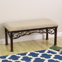 @Overstock - TRIBECCA HOME Lee Ann Bronze Iron Metal Linen Cushioned Bench - The Emma bronze metal bench is a perfect furniture will fit perfectly on bedroom, dining or entry way. The versatility and chenille upholstery of this bench will improve and upgrade your room decor.%0D%0Dhttp://www.overstock.com/Home-Garden/TRIBECCA-HOME-Lee-Ann-Bronze-Iron-Metal-Linen-Cushioned-Bench/5822627/product.html?CID=214117%0D$162.99