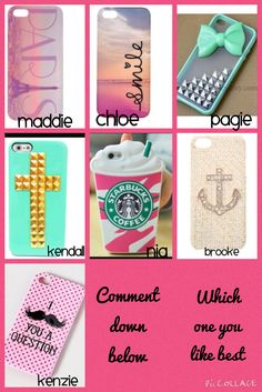 Which one do you like the best? Comment down below.=)