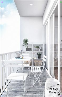 Modern Scandinavian Design for Home Interior Completed with Kids Room Design Small Balcony Design, Small Balcony Decor, Small Patio, Apartment Interior Design, Interior Design Living Room, Apartment Ideas, Room Deco, Scandinavian Design, Scandinavian Interiors