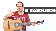 5 Rasgueos para MEJORAR tu mano derecha - Guitarra Fácil Técnica Acordes...