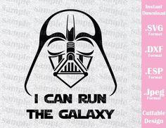 Run Disney Darth Vader Star Wars Disney Inspired Cutting File in SVG, ESP, DXF and JPEG Format