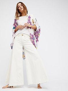 Good Vibrations Printed Cocoon Kimono by FP X