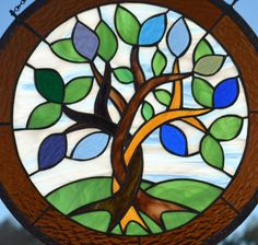 Custom Stained Glass Hanging Art with Birthstone Leaves - Great Gift for Mom Hanging Stained Glass, Custom Stained Glass, Stained Glass Flowers, Faux Stained Glass, Stained Glass Projects, Stained Glass Patterns, Stained Glass Windows, Window Art, Window Glass
