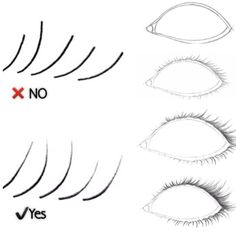 How to draw lashes.