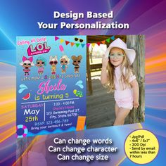 Your printable files will be delivered within hrs or less We personalize the invitation with your text and you can print as many as needed ----------------------- H O W - Minecraft Invitations, Pool Party Birthday Invitations, Lol Dolls, Rsvp, Words, Horse