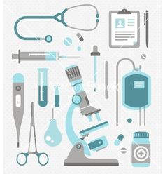 Set of medical icons vector  Also available in black