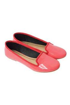 Haru Slippers In Ruby Rose Patent from Satchi Store