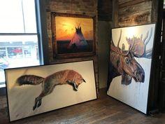"""""""Velvet Moose"""" Original Acrylic Painting on Canvas Painting Available through Park City Fine Art (Park City, UT) Photo taken Sep 2017 Bull Moose, Moose Art, Wildlife Paintings, Acrylic Painting Canvas, Contemporary Paintings, Fine Art Prints, Original Paintings, Art Gallery, Velvet"""