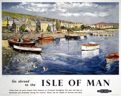 Collins, Peter -- 'Go abroad to the Isle of Man', BR (LMR) poster, 1948-1965. -- High quality art prints, canvases, postcards, mugs -- SSPL Prints