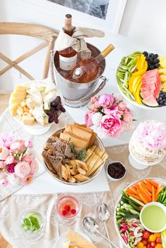 Beautiful Feminine Rosé Brunch Tablescape