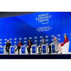 "Meg Whitman, President and Chief Executive Officer Hewlett Packard Enterprise, Sharmeen Obaid-Chinoy, Documentary Film-maker SOC Films, .Zeinab Badawi, Presenter BBC News, .Ahmad Sarmast, Founder Afghanistan National Institute of Music (ANIM), .Christine Lagarde, Managing Director International Monetary Fund (IMF), and .Sheryl Sandberg, Chief Operating Officer and Member of the Board Facebook during the Session:"" A Positive Narrative for the Global Community"" at the Annual Meeting 2017 of…"
