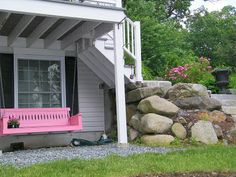 Be the only one in your neighborhood with a pink swing. It's interesting and when you tell someone to find your house - it's the one with the PINK swing.