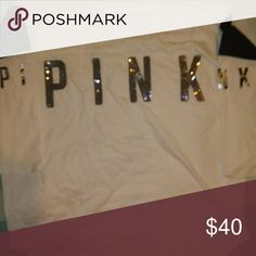Victoria's Secret pink bling shirt Brand new Victoria's Secret pink bling three-quarter sleeve shirt PINK Tops Tees - Long Sleeve