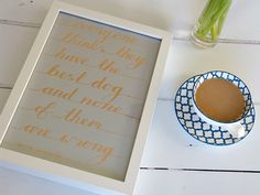 Handmade Framed Doggy Quotation - Dog Lover's gift - W.R.Purche Quote by MyMumAndMeQuotes on Etsy