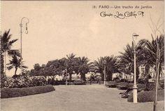 Faro : Jardim Algarve, Nostalgia, Old Postcards, Painting, Cards, Garden, Lighthouse, Painting Art, Paintings
