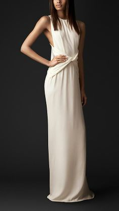 Burberry Prorsum Bow Back Silk Gown