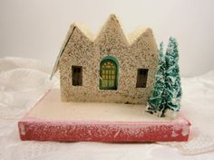 Vintage Christmas Putz House Made In Japan by Eklektibles on Etsy, $25.00