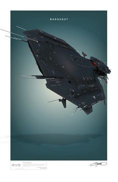 The Eve Online spaceship The Barghest illustrated by Bryan Ward. Spaceship Concept, Concept Ships, Concept Art, Eve Online Ships, Sci Fi Spaceships, Ship Of The Line, Best Sci Fi, Sci Fi Ships, Space Ship