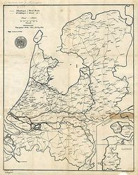 In 1884 publiceerde de ANWB haar eerste wegenkaart voor fietsers. De kaart was getekend door de eerste voorzitter van de ANWB, de Engelsman C.H. Bingham Old Maps, Antique Maps, Early World Maps, Holland Map, Hellenistic Period, Classical Antiquity, Historical Maps, Utrecht, Prehistoric