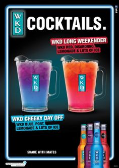 WKD Bank Holiday Cocktail Poster | Alcoholic Drink