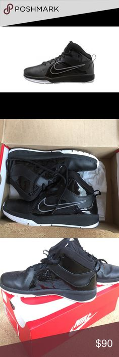 Nike High Top Sneaker Worn once ! Boys size 6, women's size 7.5 Super comfortable and great for basketball or just day to day for style. Nike Shoes Sneakers