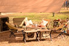 DOPPELGANGER OUTDOOR (ドッペルギャンガーアウトドア) 略してDOD。 新作チェア、テーブルの撮影中。 #キャンプ #アウトドア #テント #タープ #チェア #テーブル #ランタン #寝袋 #グランピング #DIY #BBQ #DOD #ドッペルギャンガー
