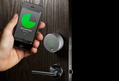 The smart home has grown in importance over the years, we have seen several door locks operated by mobile devices, but none as advanced as this. The August Smart Lock replaces physical keys with a smartphone app. Now you can control who can enter a Smartphone, Tech Gadgets, Cool Gadgets, Electronics Gadgets, Newest Gadgets, Security Gadgets, Electronics Companies, Security Products, Fitness Gadgets