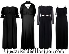 The Dark Side of Fashion *plus size*Buy Here >>> Dress1 $30 / Dress2 $46 / Dress3 $44 / Dress4 $35  Everything is currently 50% off with the code YAY50 (excludes items already on sale)