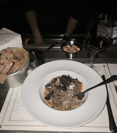 Chestnut pasta with truffles at Baccano Roma