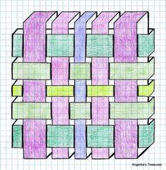 Graph Paper art made by myself . - Graph Paper art made by myself - Graph Paper Drawings, Graph Paper Art, Easy Drawings, Geometric Drawing, Geometric Art, Doodle Patterns, Zentangle Patterns, Math Art, Barn Quilts