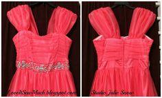 Adding straps to a strapless dress