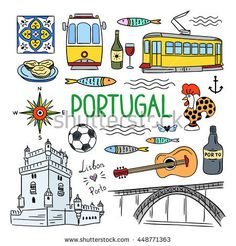 Portugal elements and symbols. Hand drawn icons of Portugal, Lisbon and Porto. Travel icons Portugal elements and symbols. Hand drawn icons of Portugal, Lisbon and Porto. Symbol Hand, Tattoo Symbole, Element Symbols, Travel Icon, Travel Illustration, Portugal Travel, Travel Scrapbook, Travel Posters, Print Patterns