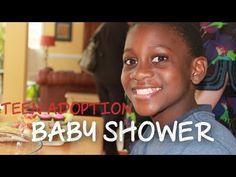 Baby Shower for Teenage Boy - Teen Adoption in Uganda... YES Baby shower for teen boy about to be adopted from Uganda.