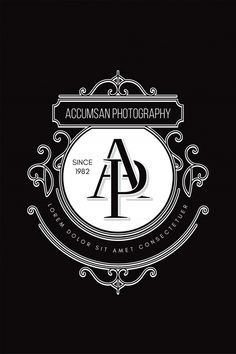 Monogram logo photography a-p Premium Vector Initial Logo, Monogram Logo, Creative Typography, Vintage Typography, Monogram Design, Lettering Design, Perfume Logo, Hand Lettering For Beginners, Luxury Logo