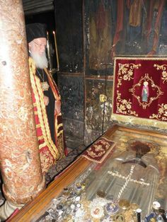 Patriarch Bartholomew Venerating the Relics of St. Athanasios the Athonite